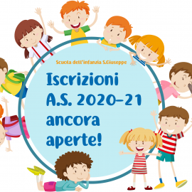 Le iscrizioni 2020-2021 ancora aperte